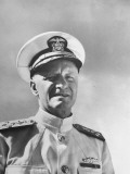 Admiral Chester with Nimitz During WWII Premium Photographic Print