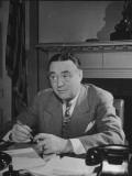 President Harry S. Truman's Assistant Edward Daniel Mckim Attending a Meeting Premium Photographic Print