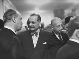 Director St. Louis Grand Opera Laszlo Halasz Talking with Others Premium Photographic Print