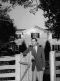 Kentucky Politician James Park Posing on His Farm Premium Photographic Print