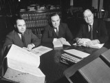 Congressmen Louis Ludlow, Paul J. Kilday and Edward Gossett Working in the Library of Congress Premium Photographic Print