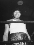 Close-Up of Boxer Joe Louis Smiling in Boxing Ring Premium Photographic Print