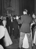 Couples Dance around French President Felix Gouin at the Victory Ball Held in the Paris Opera House Premium Photographic Print