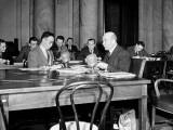 Man Testifying before a US Senate Committee Premium Photographic Print