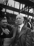 Connie Mack, Watching a Cardinals Baseball Game Premium Photographic Print