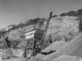 A View Showing the Stone Crushing Plant for Construction of the Inter-American Highway Premium Photographic Print