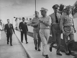 Harry S. Truman Walking with Others Premium Photographic Print