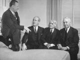Senators Harlan J. Bushfield and Homer E. Capper with Farm Lobbyists Ralph Moore and Fred Brinkman Premium Photographic Print