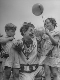 A View of a Picnic Being Thrown for Orphans Premium Photographic Print
