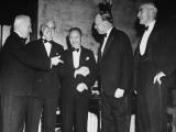 Edward R. Stettinius Jr., Dr. Wellington Koo, Senator Robert A. Taft and Amb. Joseph C. Grew Premium Photographic Print