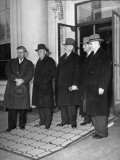Henry A. Wallace, Sam Rayburn, Alben with Barkley, Harry S, Truman and John with Mccormack Standing Premium Photographic Print