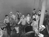 President Harry S. Truman Being Taken on a Fishing Trip on Puget Sound Premium Photographic Print