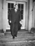 Hugh Fulton, Former Counselor of the Truman Commission, Leaving White House Premium Photographic Print