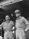 General Douglas Macarthur Smoking Corncob Pipe During Philippines Action, WWII Premium Photographic Print