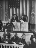 President Harry S. Truman Addressing a Joint Session of Congress Premium Photographic Print