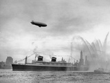 Ocean Liner the SS America Sailing into New York Harbor Premium Photographic Print