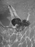 Singer/Actress Julie London Swimming in a Pool Premium Photographic Print