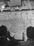 A View of a Notre Dame Football Game During Half-Time Premium Photographic Print