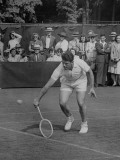 Tennis Player Pierre Pellizza in Action Premium Photographic Print