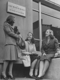 President Harry Truman's Daughter with Some Friends at Georgetown University Premium Photographic Print