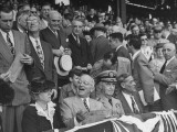 President Harry S. Truman Mixing with the Crowd at Opening Baseball Game Premium Photographic Print