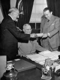 President Harry Truman Sitting Premium Photographic Print