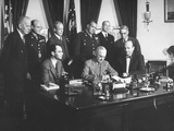 President Harry S. Truman Signing a Bill on Atomic Energy Premium Photographic Print