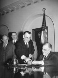 President Franklin D. Roosevelt Registering for the Draft Premium Photographic Print