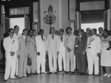 Members of Exec. Committee of Confederation of Cuban Workers with President Ramon Grau San Martin Premium Photographic Print