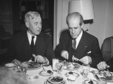 Farm Lobbyist Fred Brinkman Dining with Senator Harlan J. Bushfield Premium Photographic Print