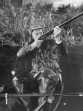 "Actor Van Johnson Duck Hunting in a Scene from the Movie ""Early to Bed"" Premium Photographic Print"