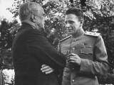 General Leonid Rudenko Talking to a US Senator at a Party Premium Photographic Print