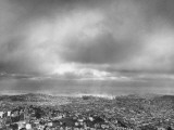A View of a Storm Moving across the City of San Francisco Premium Photographic Print