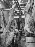 Butchers Cutting Up Horses for Use as Meat Premium Photographic Print