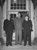 Sec. Harold L. Ickes, Julius A. Krug, and Senator Kenneth Mckeller Posing Premium Photographic Print