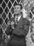 "Comedian Doodles Weaver Doing a Routine on Set of ""Hour Glass"" Program Premium Photographic Print"
