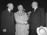 Harry S. Truman Shaking Hands with Smith Premium Photographic Print
