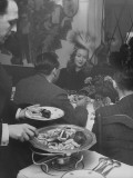 French Actress Barbara Laage, with Friends at Blackmarket Dinner Premium Photographic Print