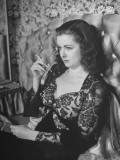 "Actress Joan Bennett Performing in Scene from the Movie ""Scarlet Street"" Premium Photographic Print"