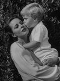 Actress Alida Valli with Her Son Premium Photographic Print