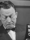 Comedian Fred Allen Thinking During Broadcast Premium Photographic Print