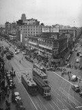 A View Showing the Overflowing Crowds on Market Street the Day before Christmas Premium Photographic Print