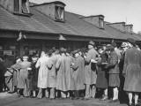 People Making Bets before the Grand National Horse Race Premium Photographic Print