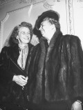 Mrs. Franklin D. Roosevelt and Her Daughter, Anna, Wearing Fur Coats Premium Photographic Print