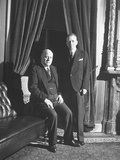 Senators Eugene D. Millikin and Irving M. Ives at a Meeting of the Republican Caucus Premium Photographic Print