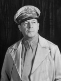 General Douglas Macarthur, Posing Seriously for His Portrait Premium Photographic Print