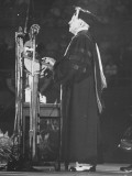 President Harry S. Truman Speaking to a Crowd During a Homecoming Ceremony Premium Photographic Print