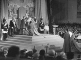 Pope Pius XII Presiding over a Public Gathering in St. Peters for the Elevation of New Cardinals Premium Photographic Print