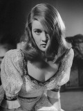 Actress Nancy Guild Imitating Actress Veronica Lake for a Screen Test Premium Photographic Print