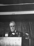 President Franklin D. Roosevelt Delivering His Navy Day Speech Premium Photographic Print